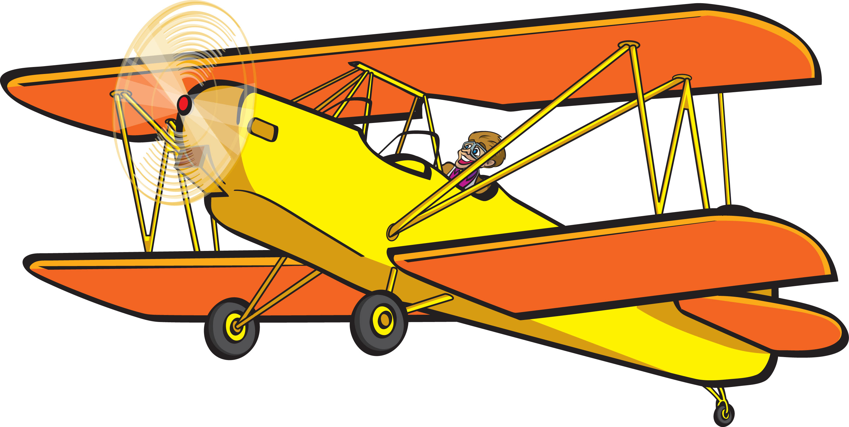 Biplane clipart yellow airplane. Silhouette at getdrawings com