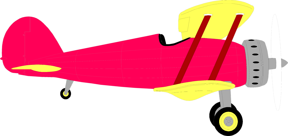 Biplane clipart yellow airplane. Old at getdrawings com