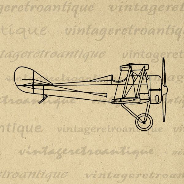 Biplane clipart yellow airplane. Printable image antique digital