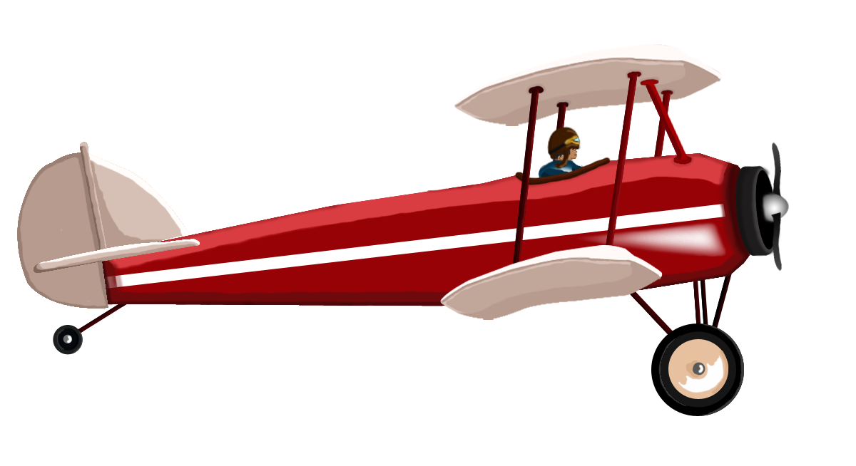 Biplane vector. Red opengameart org biplanepng