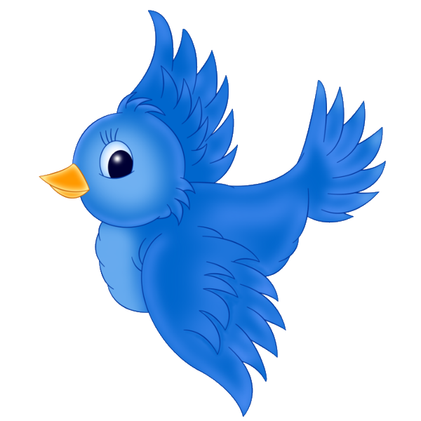 Blue birds cartoon characters. Bird clip art png black and white stock