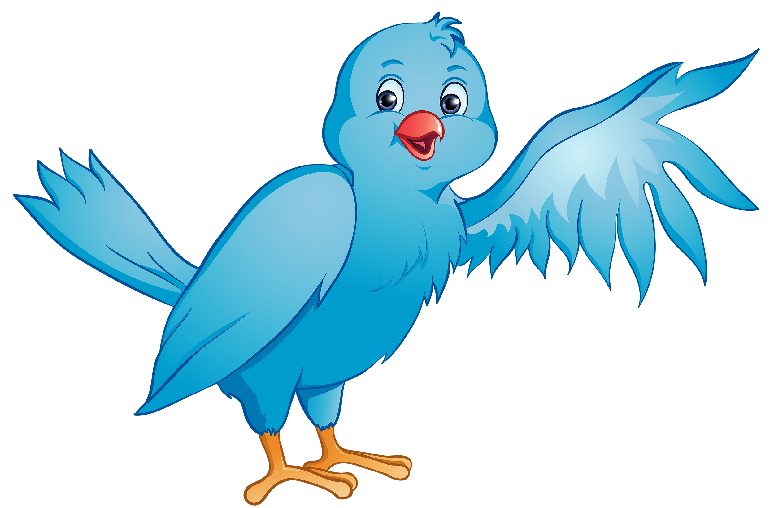 Blue clipart best web. Cartoon bird png picture library download