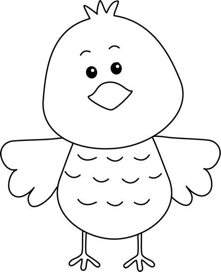 Bird clip art black and white. Free birds cute image