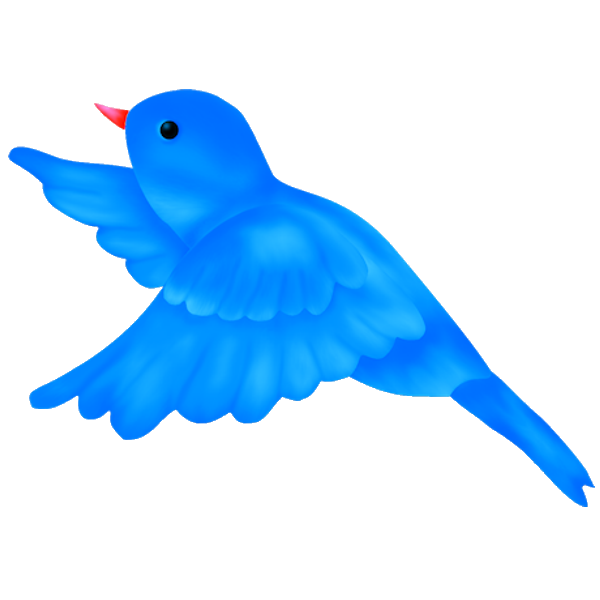 Bird clip art cartoon. Blue clipart bay