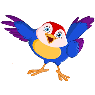 Bird clip art cartoon. Blue images