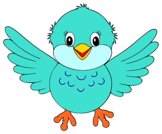 Bird clip art cute. Little blue clipart is
