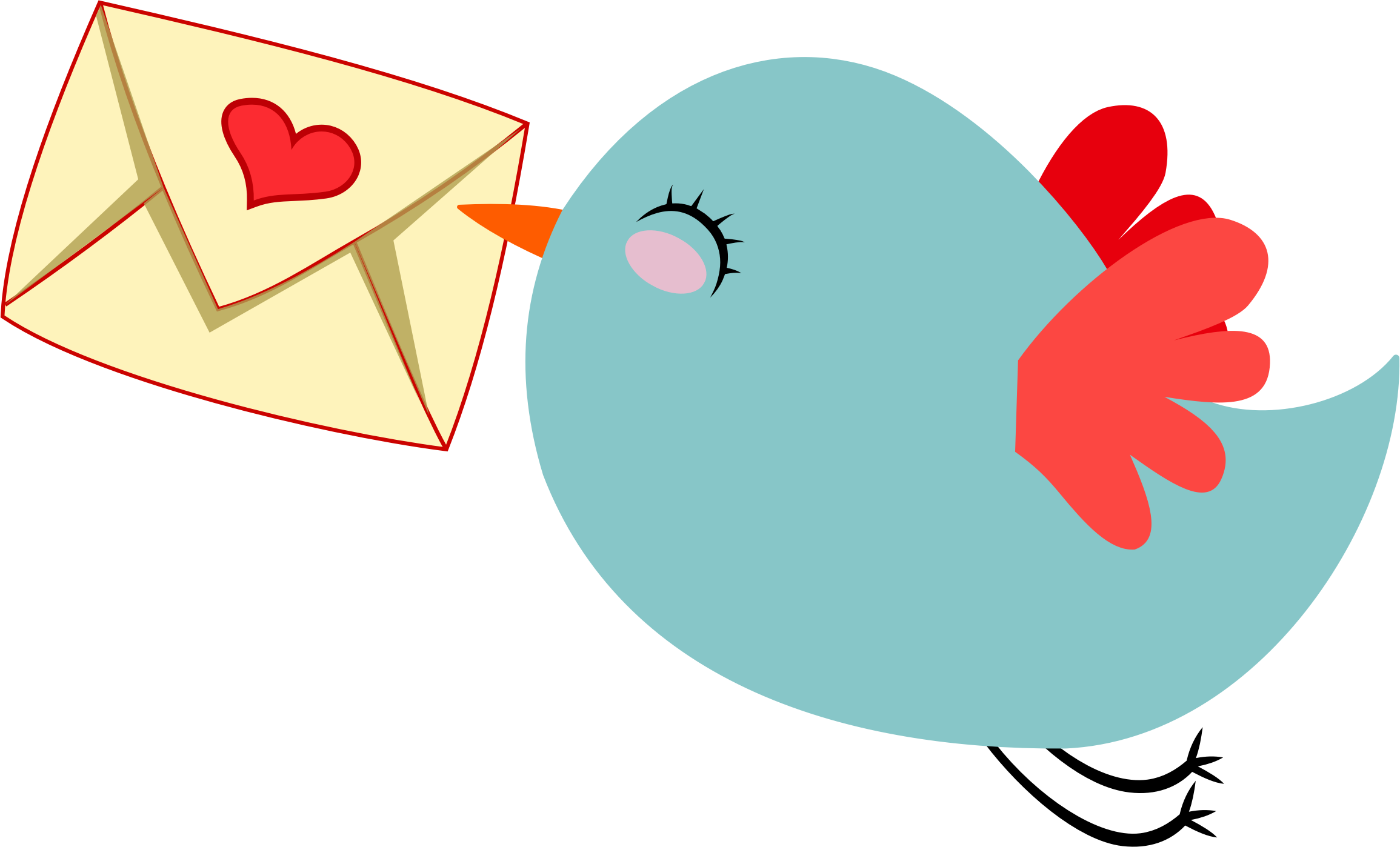 Bird clip art cute. Clipart mail carrier big