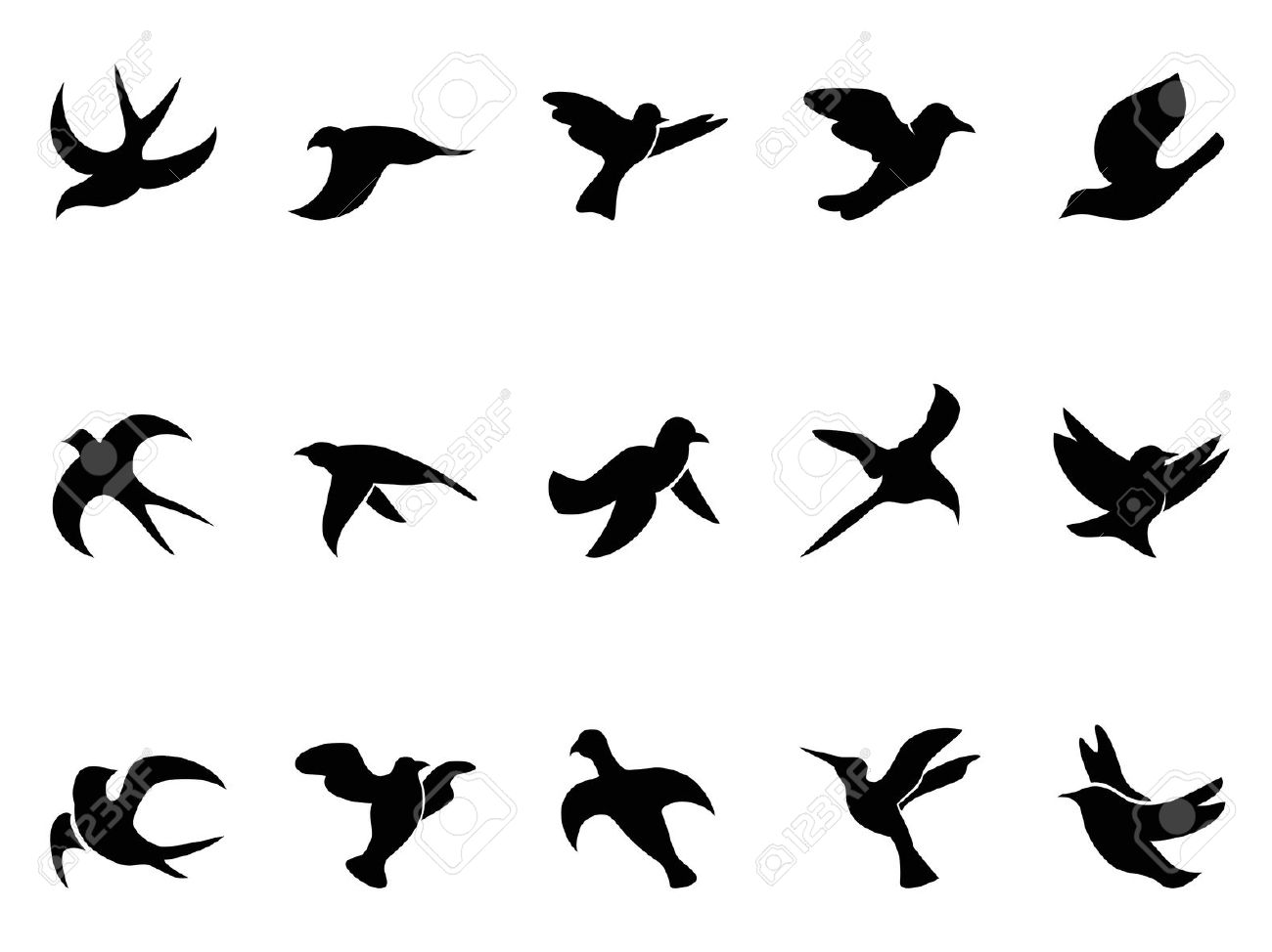 Bird clip art easy. Sparrow silhouette at getdrawings