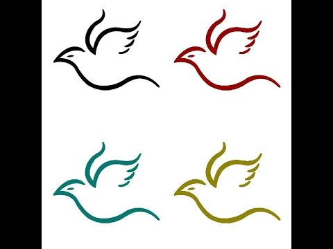 Bird clip art easy. How to draw a