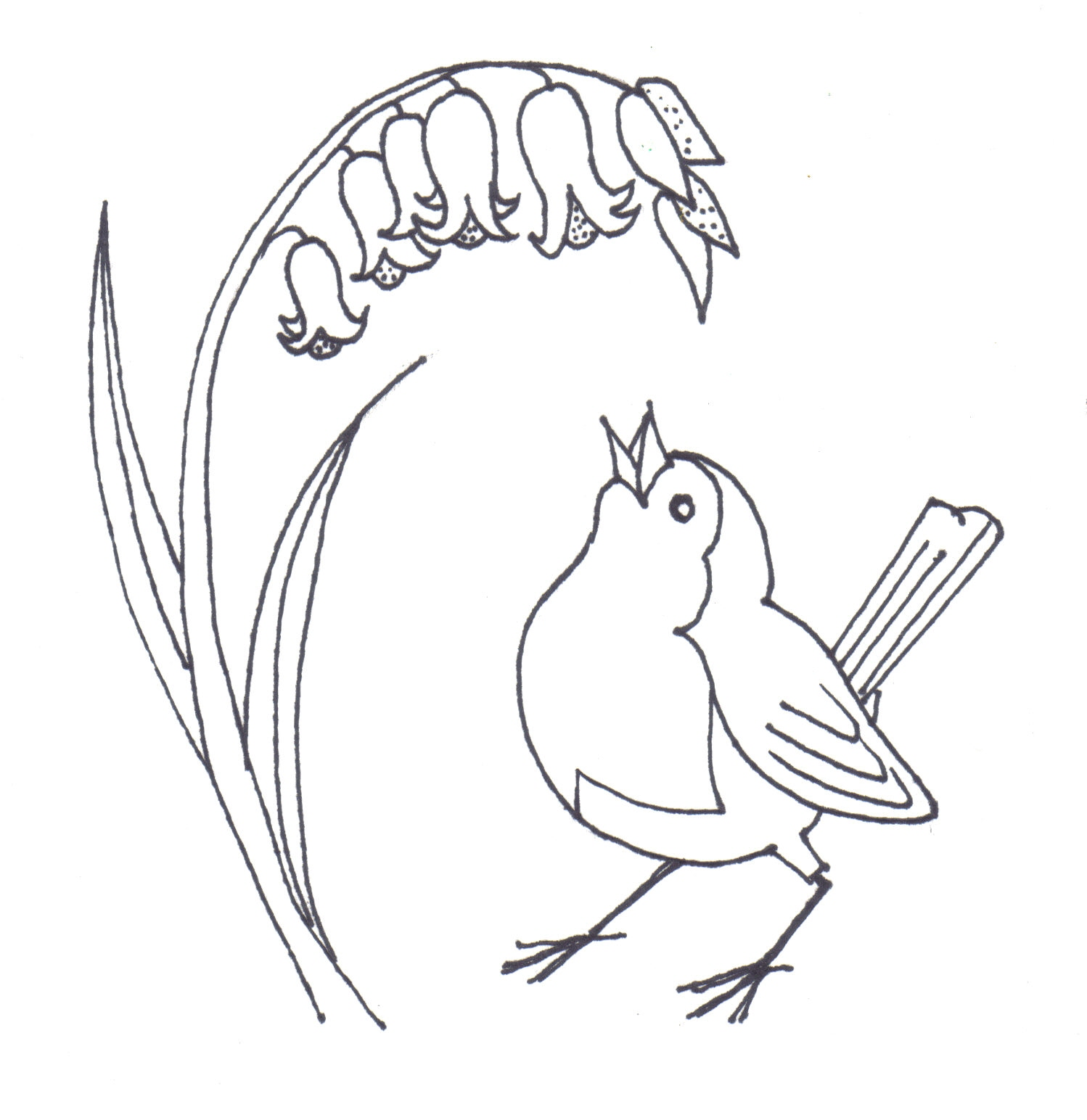 Bird clip art easy. Simple line drawing at