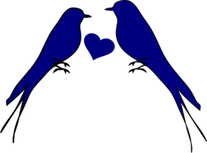 Bird clip art heart. Two birds with at