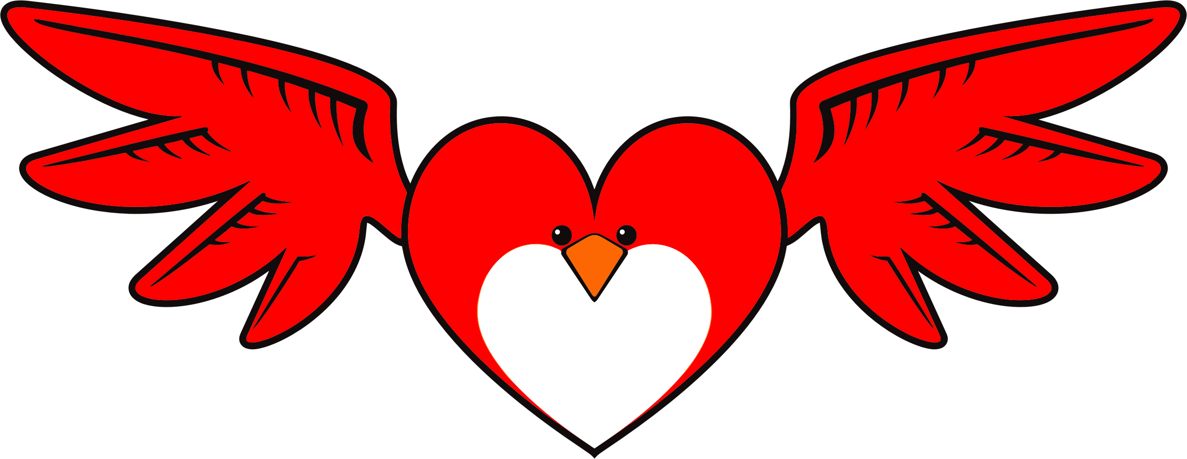 Bird clip art heart. Icons png free and