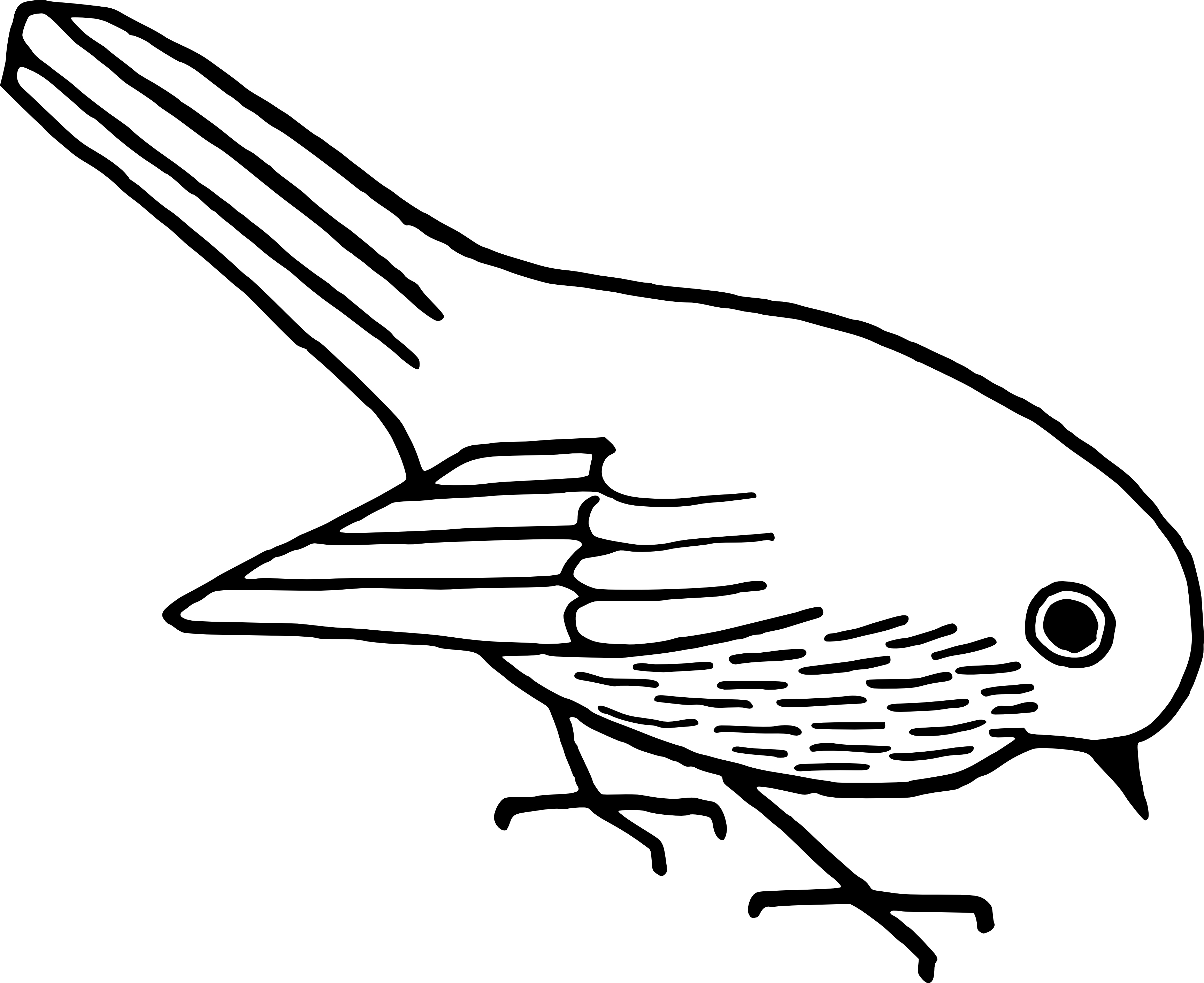 Bird clip art line drawing. At getdrawings com free