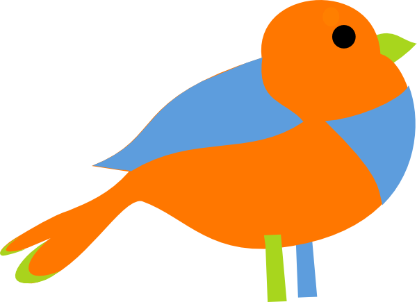 Colorful at clker com. Bird clip art little bird png library download