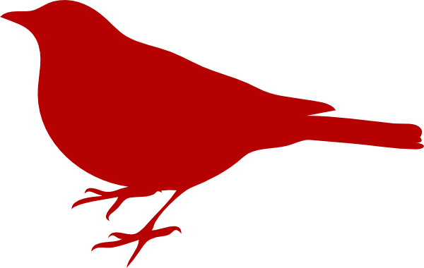 Bird clip art red bird. Simple clipart