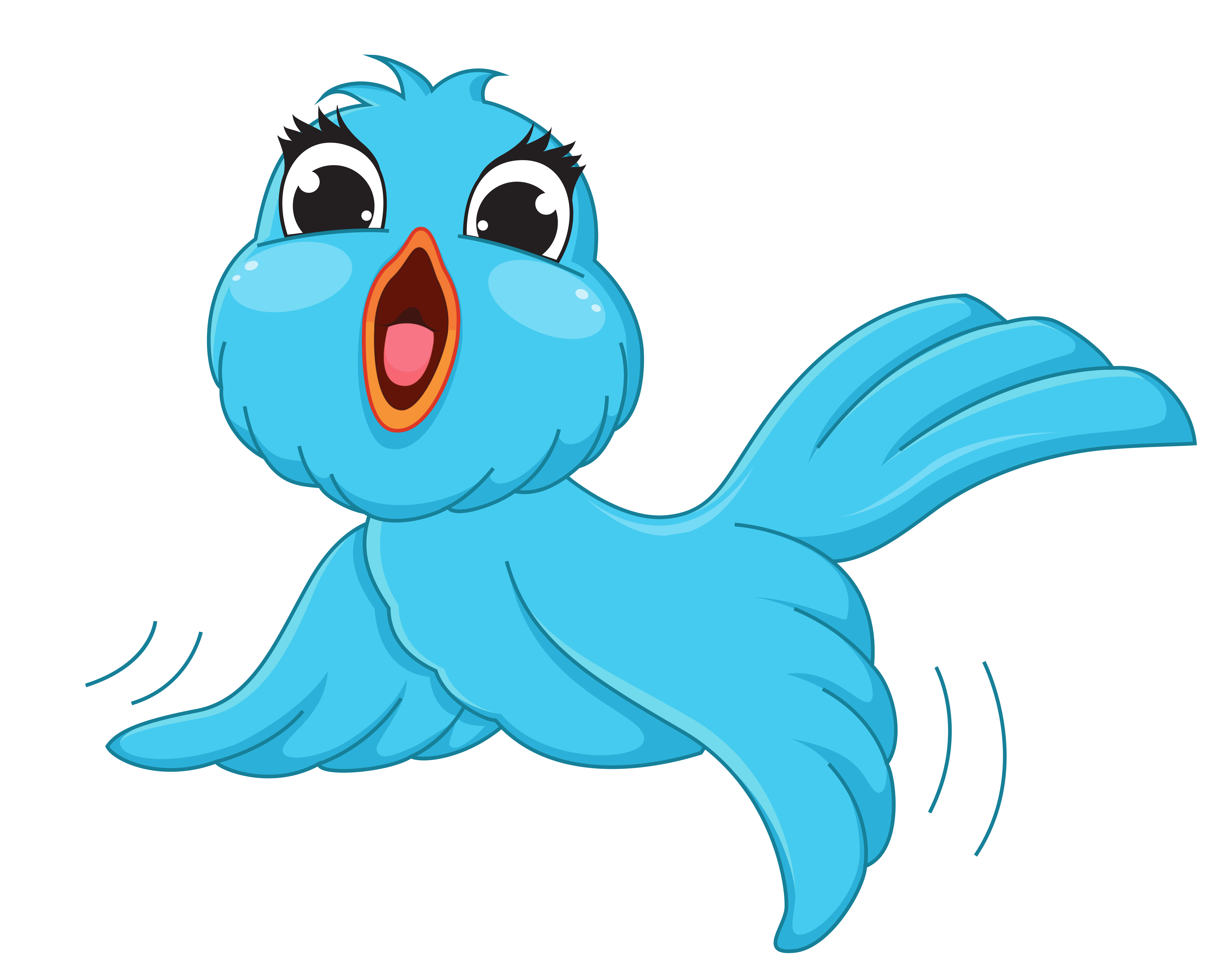 Bird clip art transparent background. Blue png cartoon picture