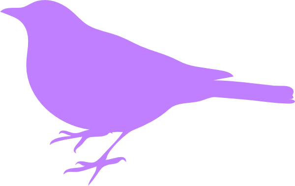 Bird clipart lilac. Purple silhouette at getdrawings