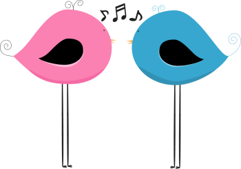 Bird clipart music. Clip art images two