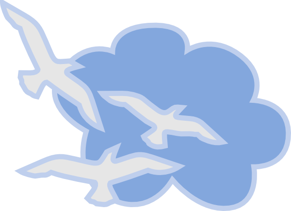 Bird clipart sky. Birds flying into the