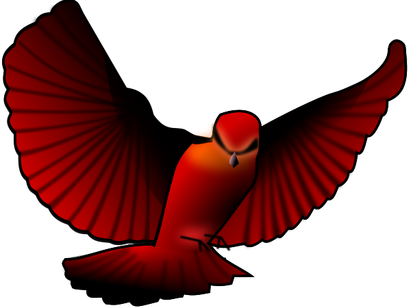 Bird clipart vector. Red svg file clip