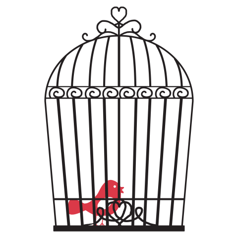 bird fling out of cage png