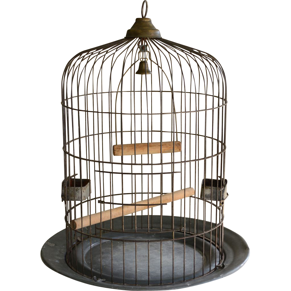 Open cage png. Large antique birdcage o
