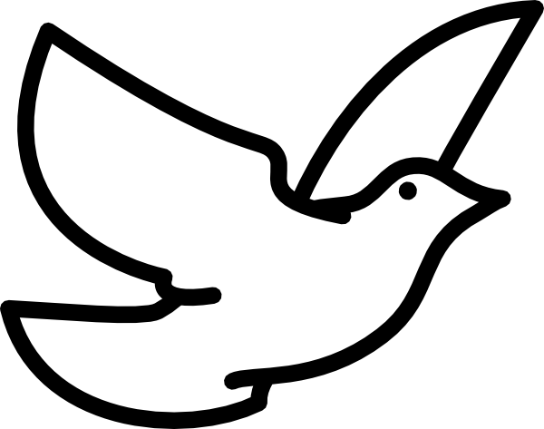 Outside clipart bird. Dove outline clip art
