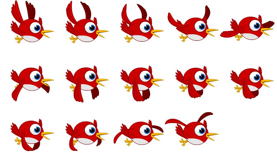 Bird sprite png. Flying pure css by