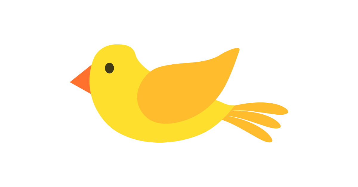 Bird vector png. Yellow illustration and free
