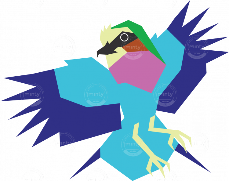 Bird vector png. Lilac breasted roller artwork