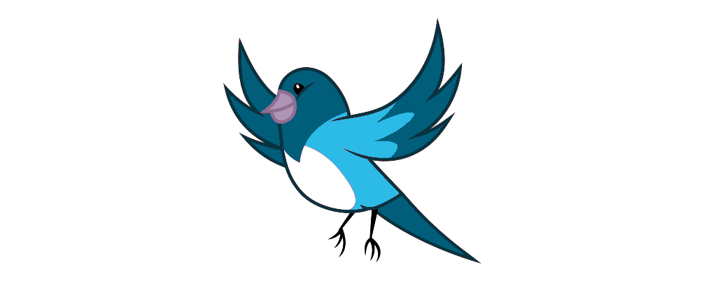 Bird vector png. Blue by blackstar on
