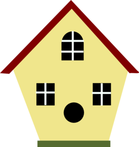 Birdhouse clipart. Yellow bird house clip
