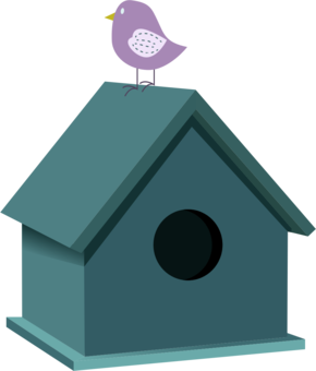 Birdhouse clipart. Barn swallow bird computer