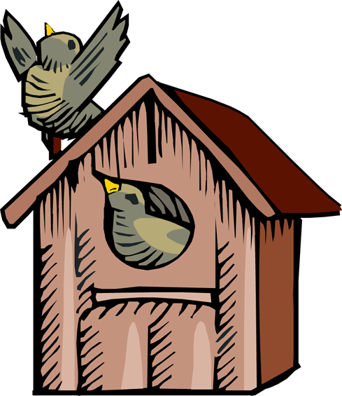 Birdhouse clipart birdfeeder. Cute panda free images