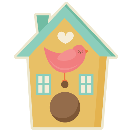 Birdhouse clipart home garden. With bird svg cutting