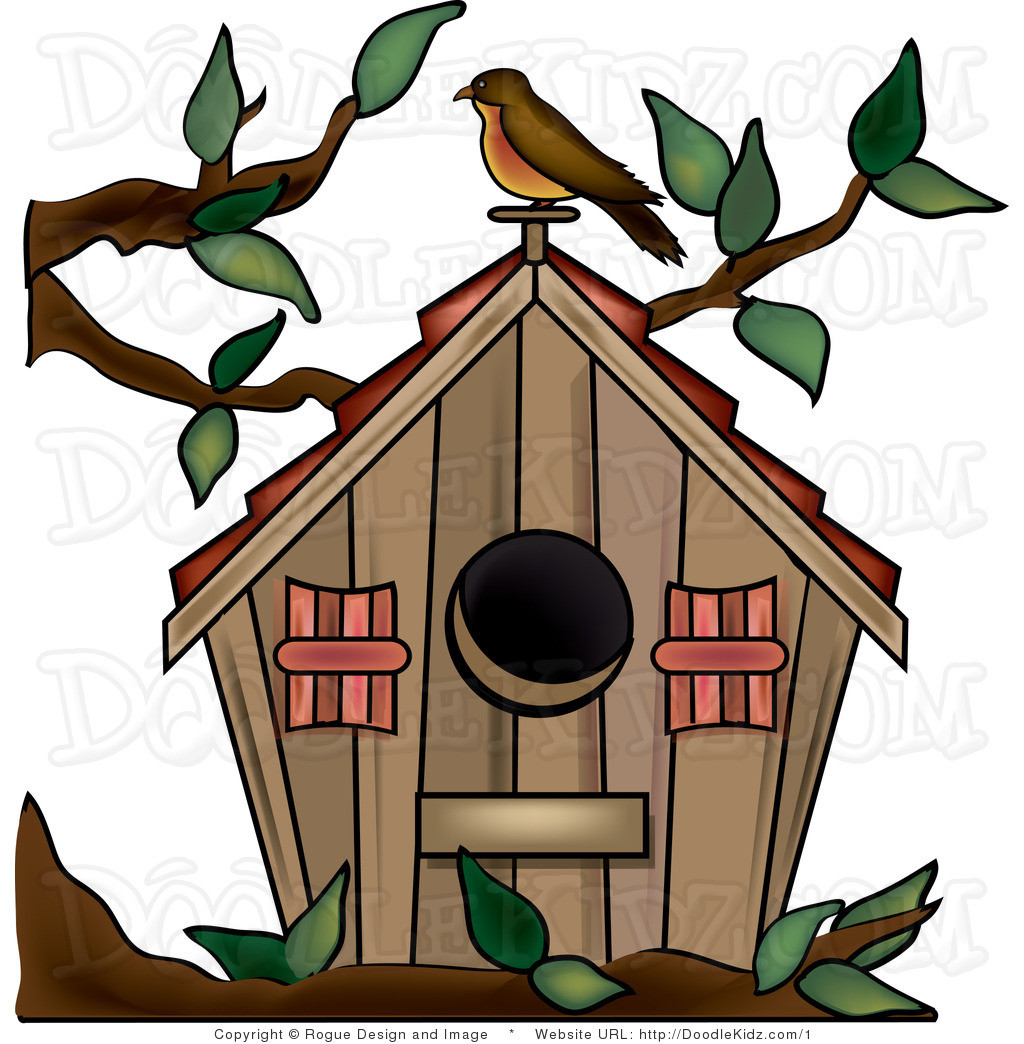 Birdhouse clipart house post. Cute panda free images