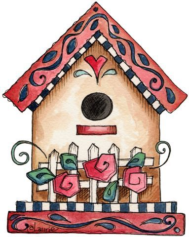 Birdhouse clipart house post. Best birds and