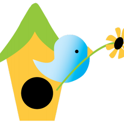 Birdhouse clipart house post. Gardens on twitter check
