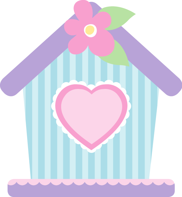 Birdhouse clipart pink. Pin by aracely valencia
