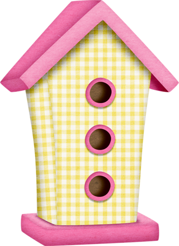 Birdhouse clipart pink. Tborges inflowers png birdies