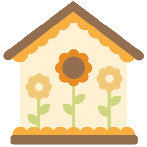 Birdhouse clipart printable. Svg cutting files for