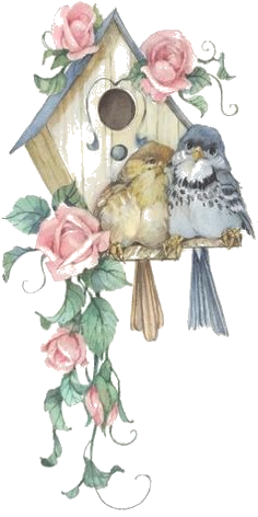 Birdhouse clipart shabby chic bird. Welcome here enjoy your