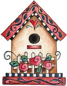 Birdhouse clipart shabby chic bird. Laurie furnell x px