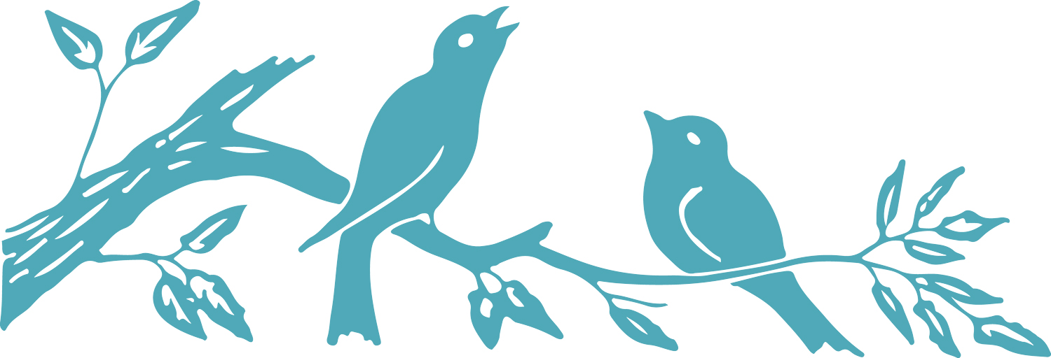 Birds clipart branch. Silhouette images on colors