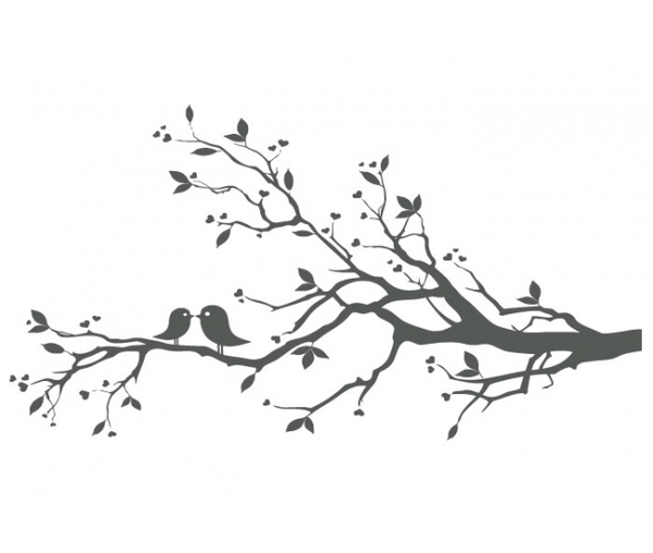 Birds clipart branch. Love on x image