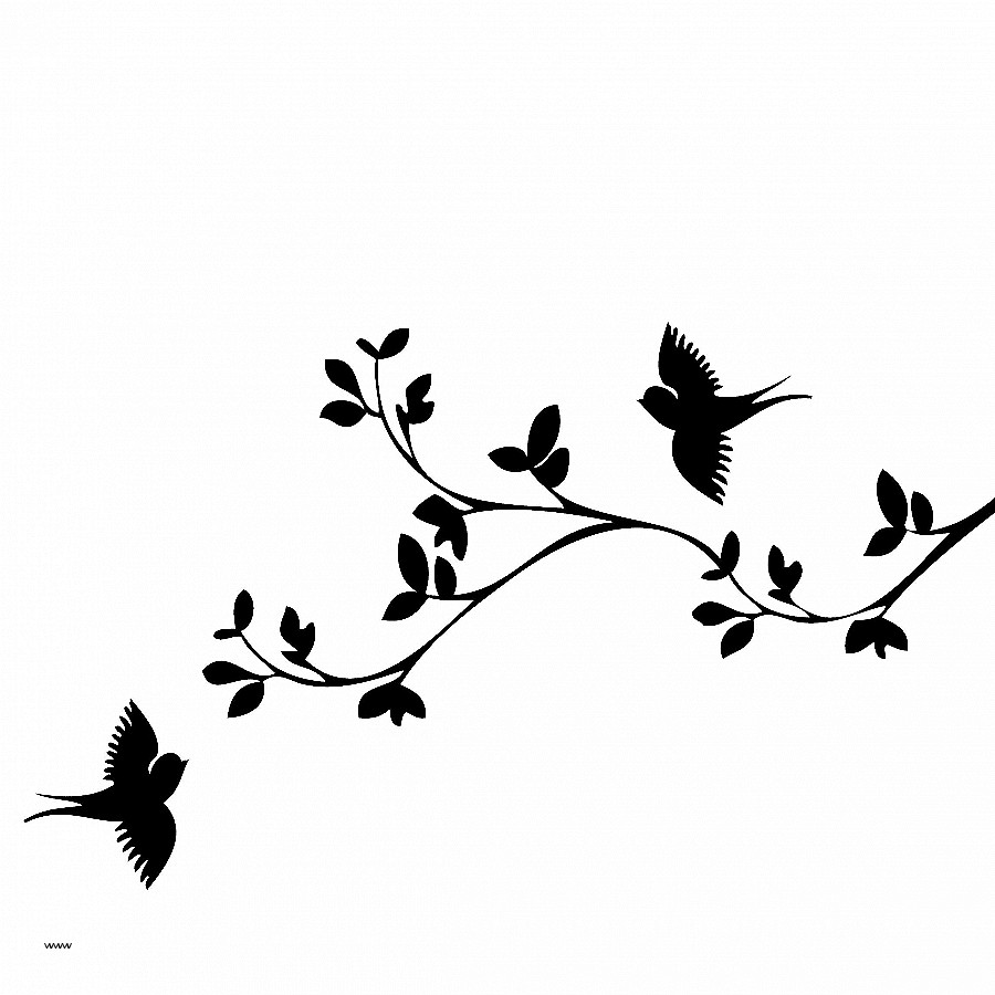 Birds clipart branch. Silhouette of on at