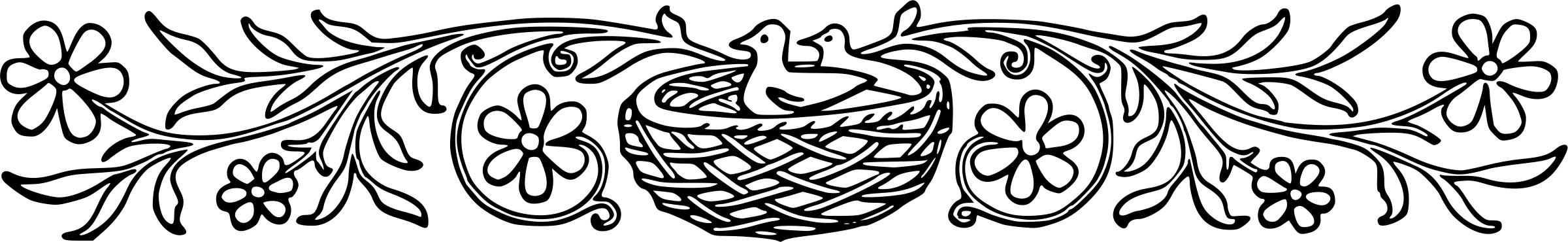 Birds clipart divider. Decorative icons png free