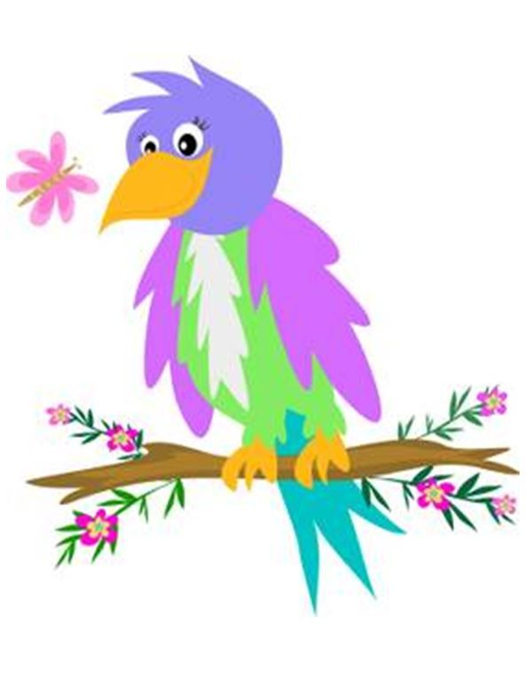 Birds clipart flower. Pin by julia anderson