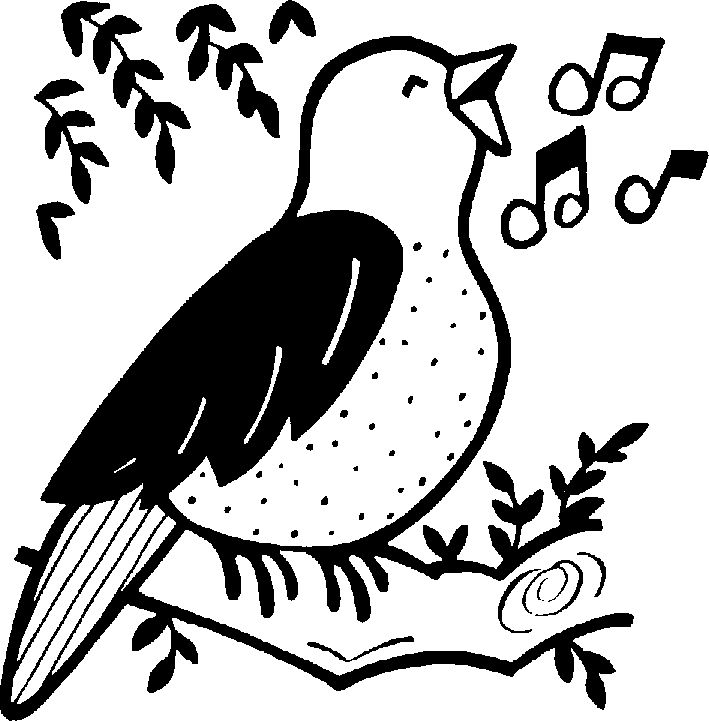 Birds clipart track. Girl scout leader sing
