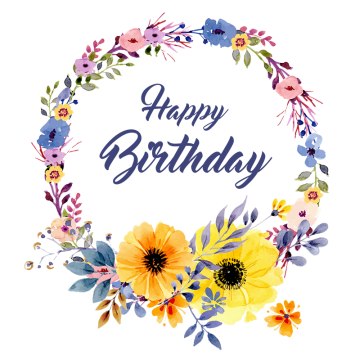 Vector flower design png. Birthday background images vectors